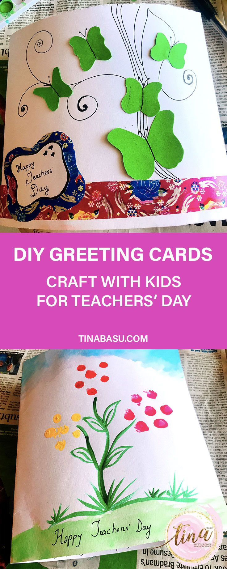 Happy Teachers Day Diy Greeting Card With Images Teachers Day