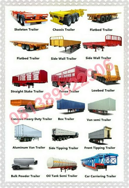 Karoseri Selfloader Angkutan Alat Berat Karoseri Flatbed Self Loader Truk Mobil Minyak Sawit