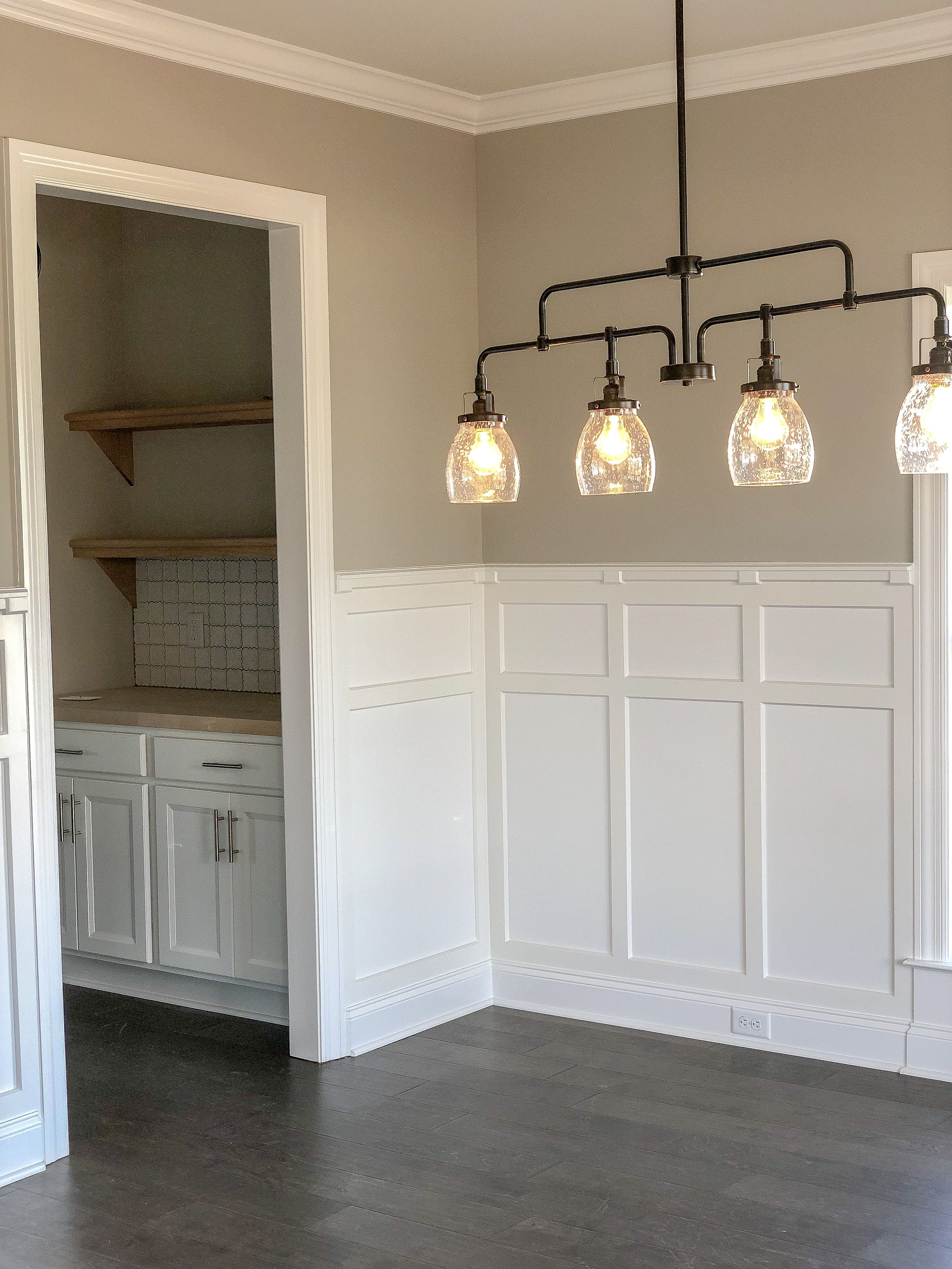 Butler Pantry off of Dining room #boardandbattenwall