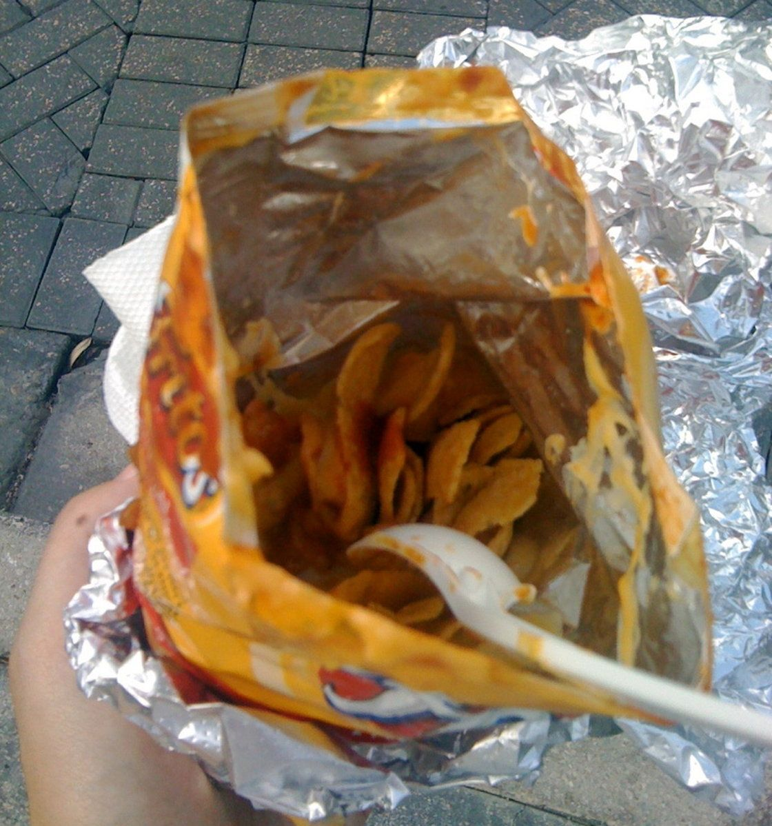 A New Yorker's first Frito pie experience.