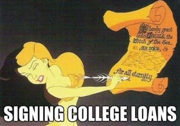 Image result for student loans little mermaid
