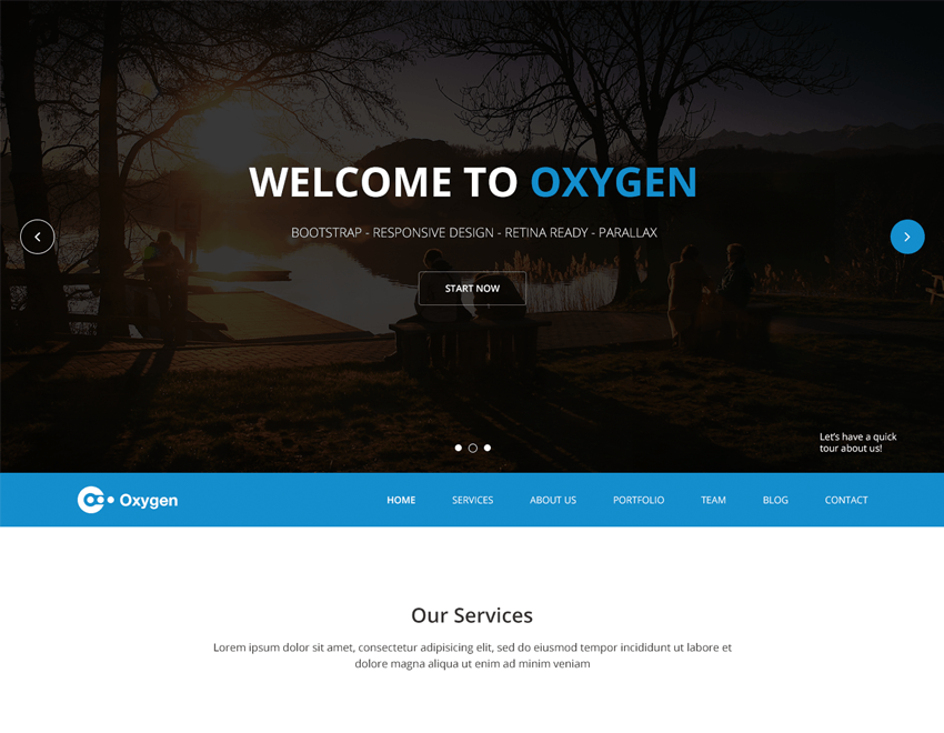 Oxygen free bootstrap one page theme free creative agency oxygen is an incredible free bootstrap one page portfolio theme this bootstrap template will suit app software agency portfolio services small company pronofoot35fo Choice Image