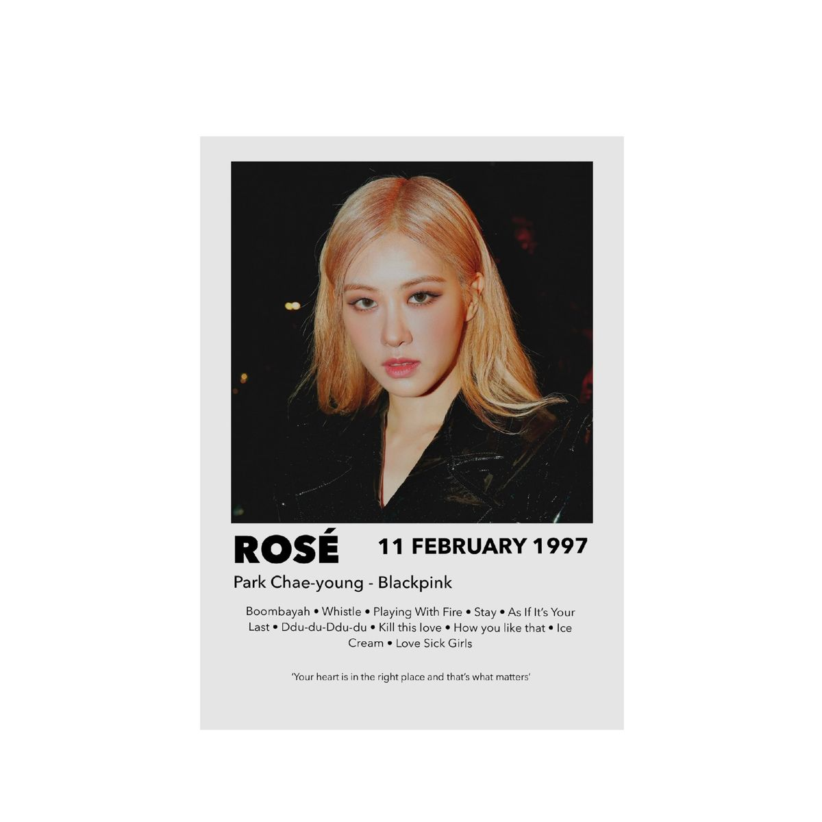 Rosé from BLACKPINK poster print photo