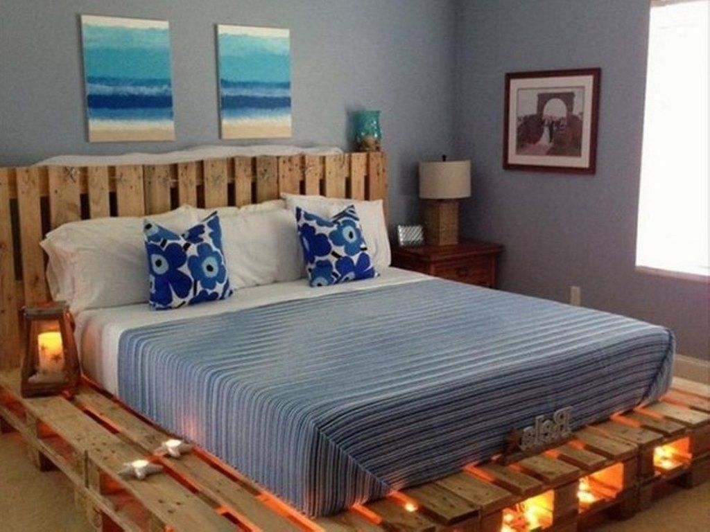 Image Result For Wooden Skid Bed Frame Pallet Furniture Bedroom