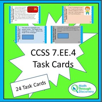 CCSS 7.EE.4 Task Cards