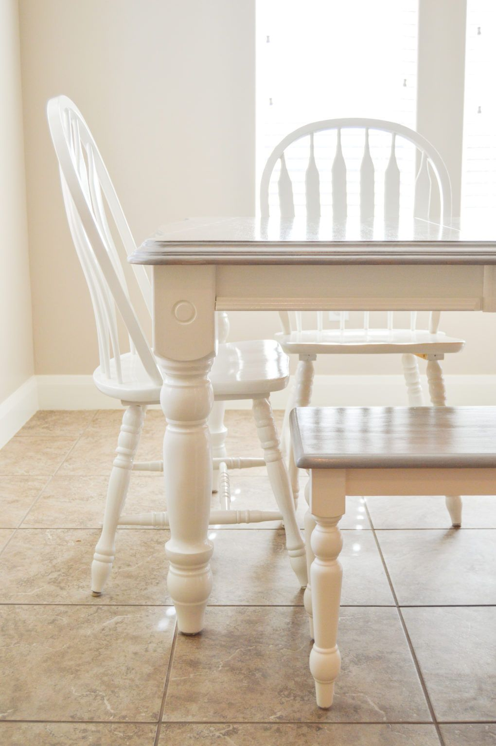 Diy Grey Paint Wash Dining Table Chairs Diy Dining Room Table