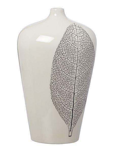 Linea Leaf Print Vase Bottled Up And Decorative Pretties Pinterest