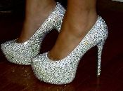 If I wore high heels, you'd catch me in these. Love sparkles.