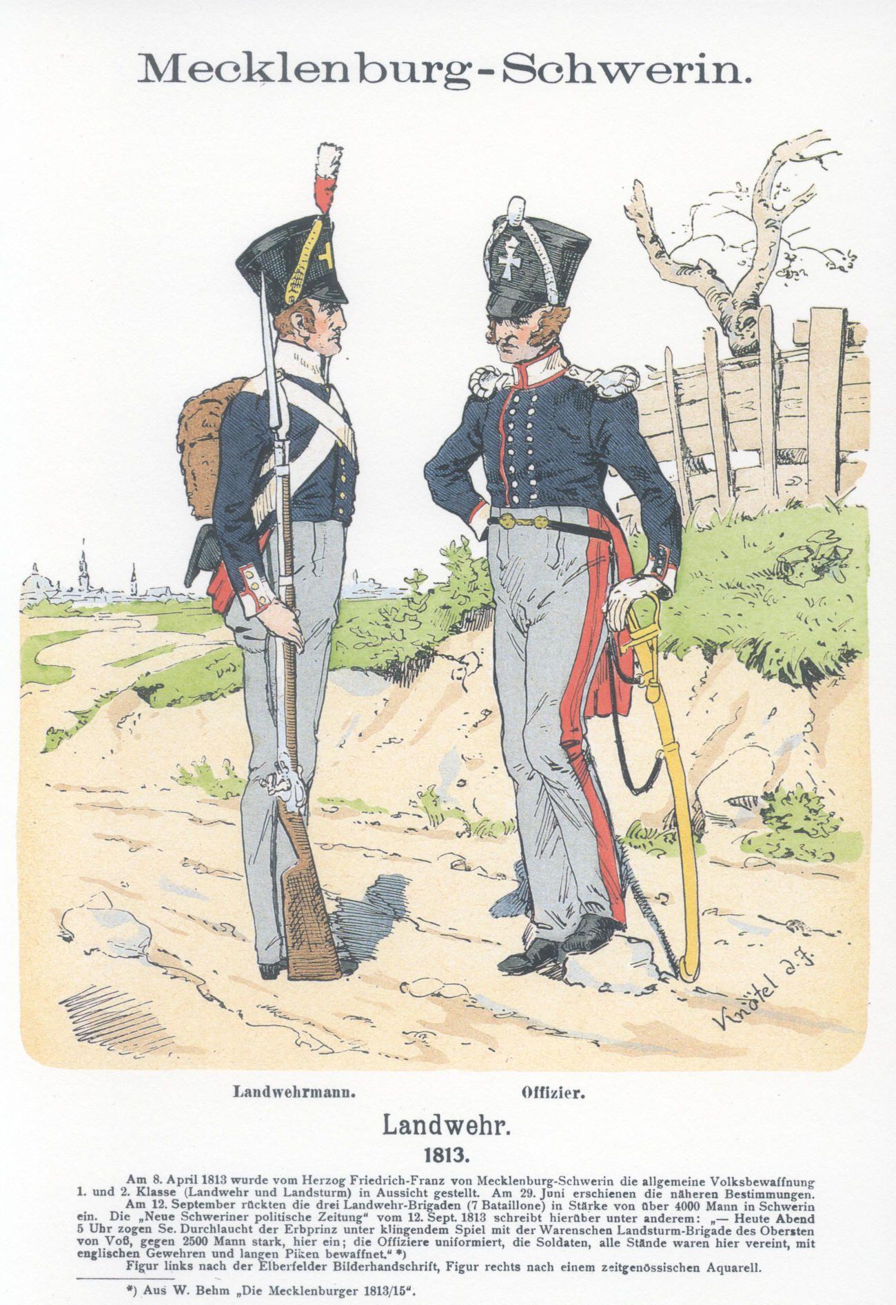 Vol 18 - Pl 41 -  Mecklenburg-Schwerin. Landwehr 1813.