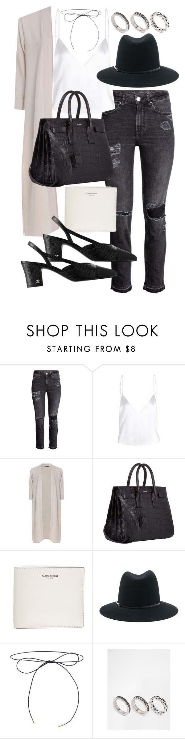 """Untitled #20351"" by florencia95 ❤ liked on Polyvore featuring Boohoo, Yves Saint Laurent, Janessa Leone and ASOS"