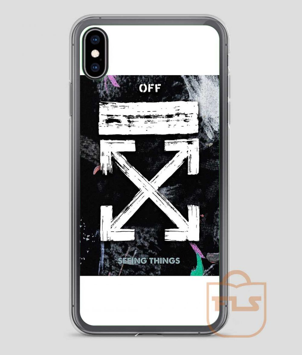 Off white galaxy brushed iphone case x xs xr xs max