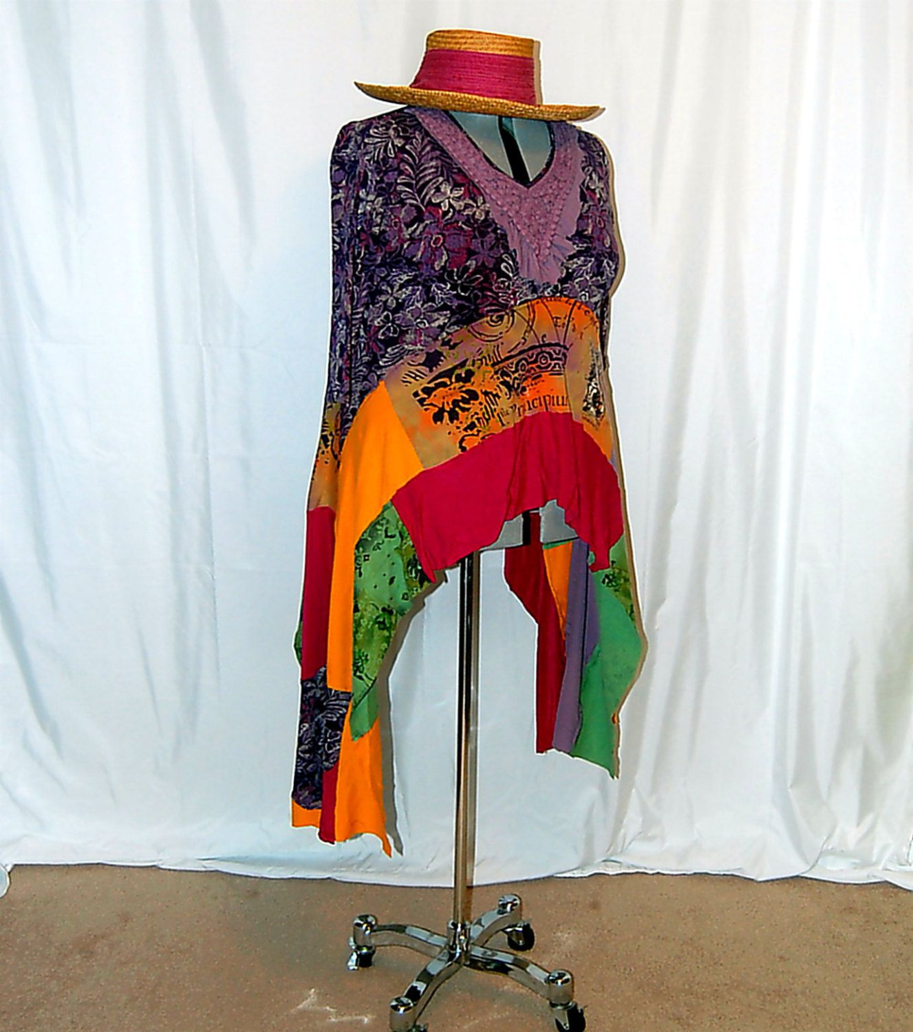 Plus size lagenlook tunic ooak altered refashioned upcycled restyled