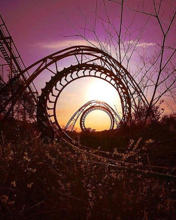 Abandoned Rollercoaster, Nara Dreamland, Japan Photography