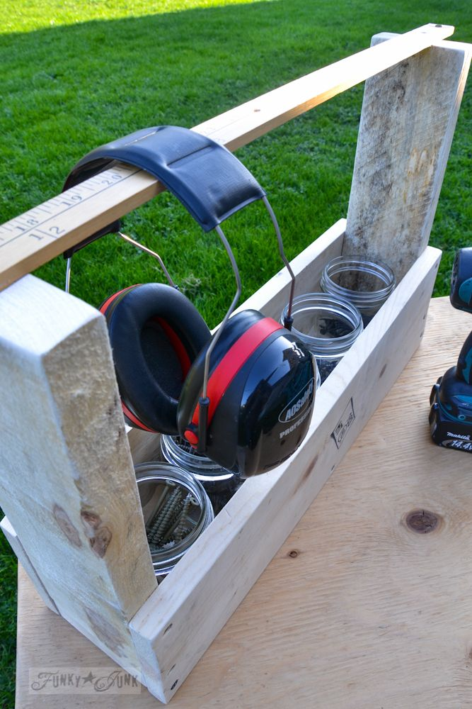 Make this pallet wood tool tote... in minutes | Funky junk ...