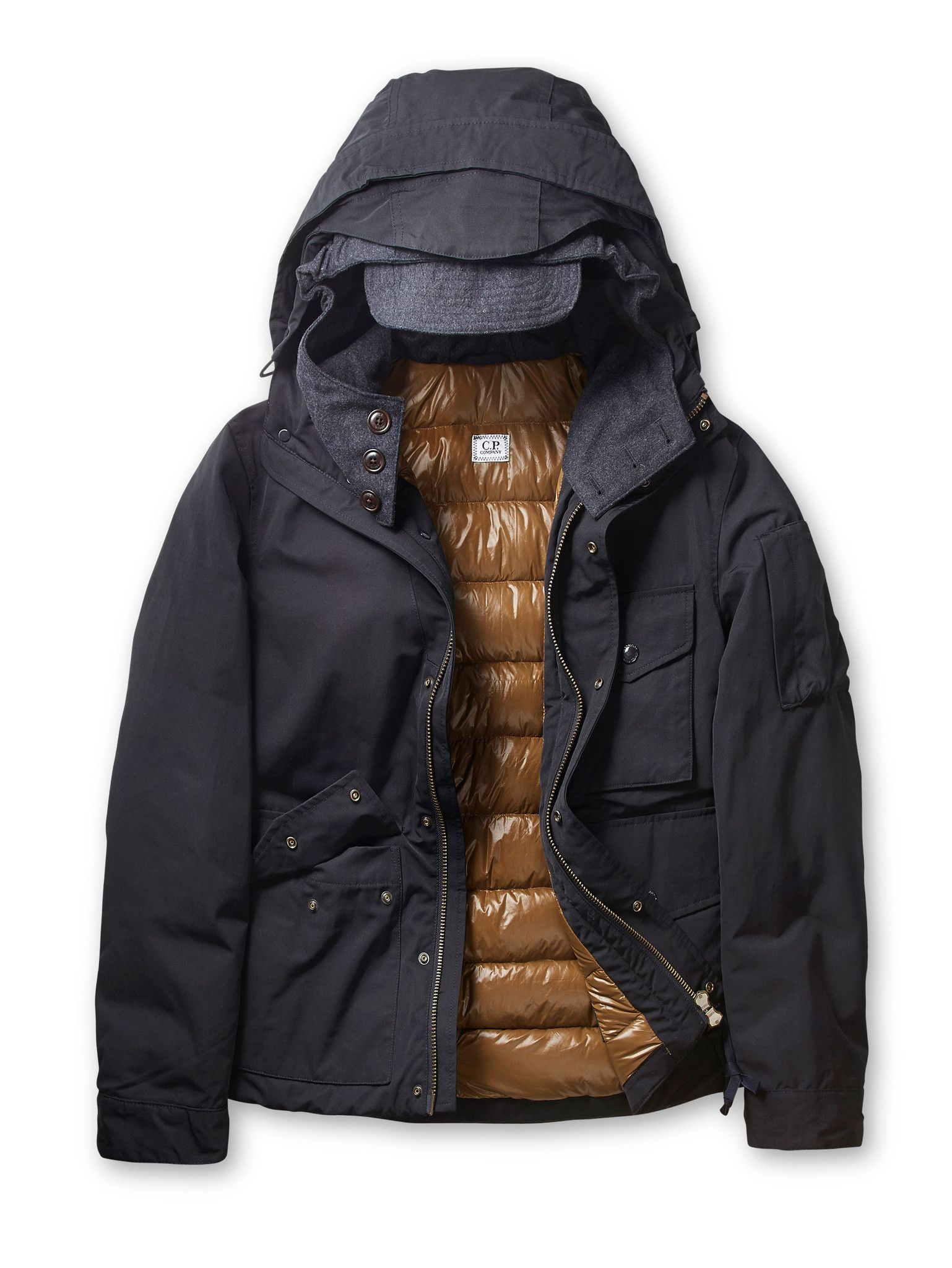 Microreps 60/40 Poly Cotton Thermo Lined Hooded Down Jacket in ...