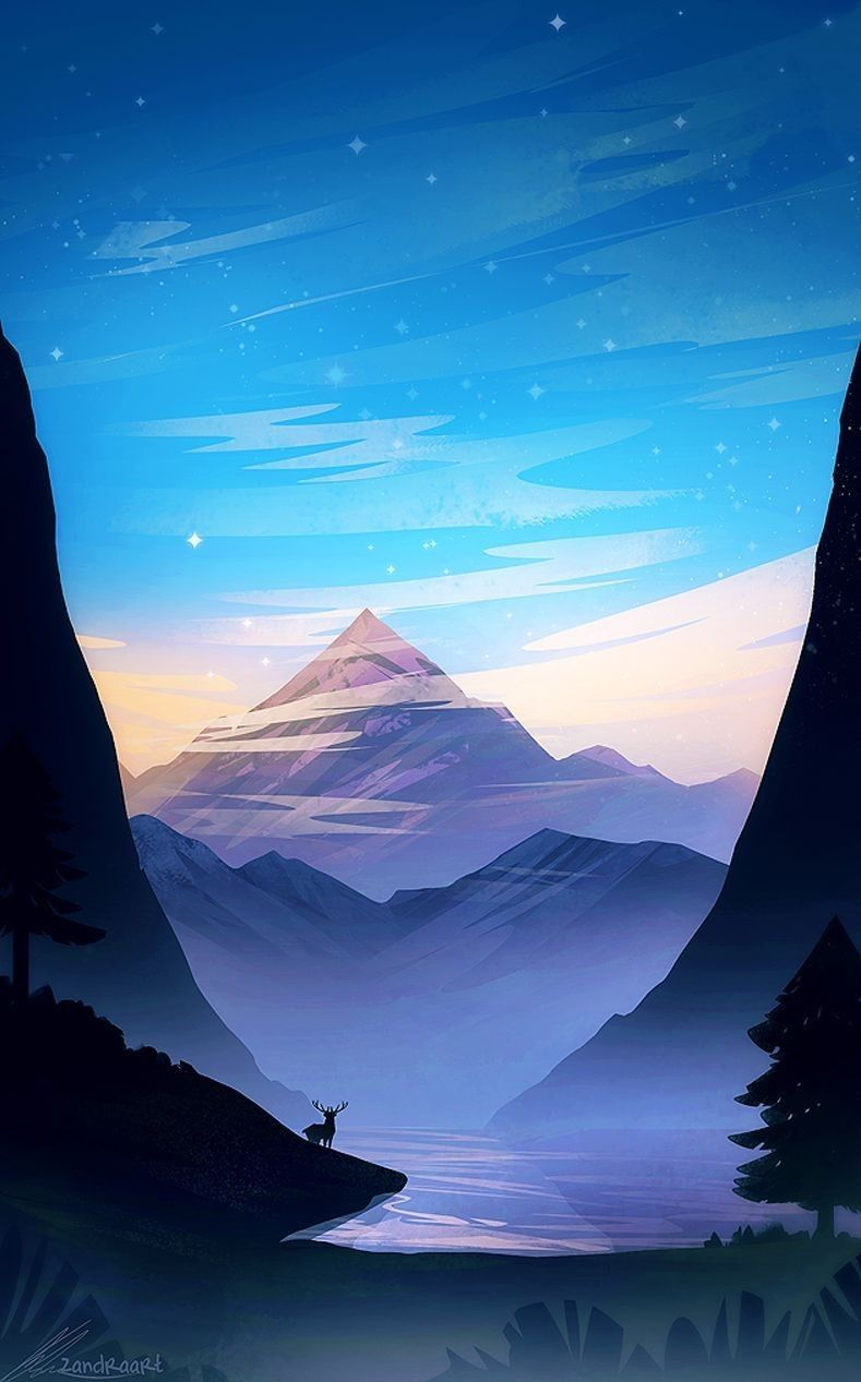 Pin By Susan Dukelow On Screensavers Wallpapers Landscape Illustration Fantasy Landscape Anime Scenery