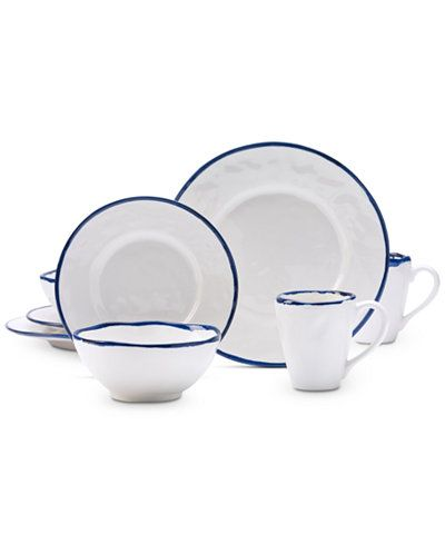 Tabletops Unlimited 16-Pc. Sicily Dinnerware Set  sc 1 st  Pinterest : tabletops gallery 16 piece porcelain dinnerware - pezcame.com