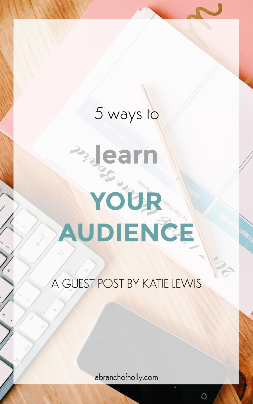 5 WAYS TO LEARN YOUR AUDIENCE Blogging mistakes