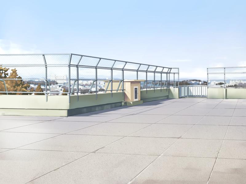 School Rooftop Inspiration Design Anime Background Scenery Background Anime Scenery Wallpaper