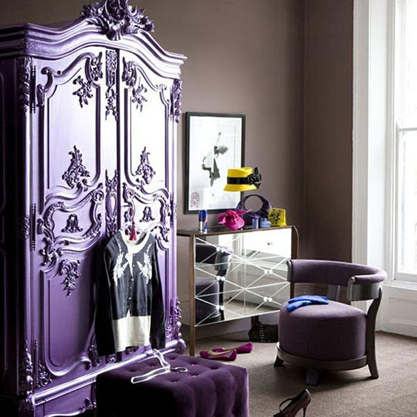 Victorian Purple furniture | decorar con muebles antiguos-armario ...
