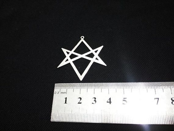 Bring Me The Horizon Necklace Unicursal Hexagram Thelema Necklace Symbol By Ritual Tools Symbols Scrying Mirror