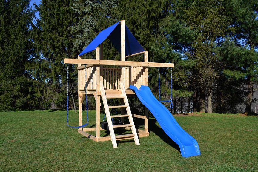 Cedar Swing Sets The Bailey Space Saver Backyard Playset