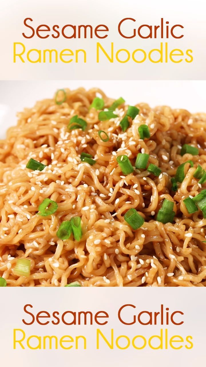 Photo of Sesame Garlic Ramen Noodles
