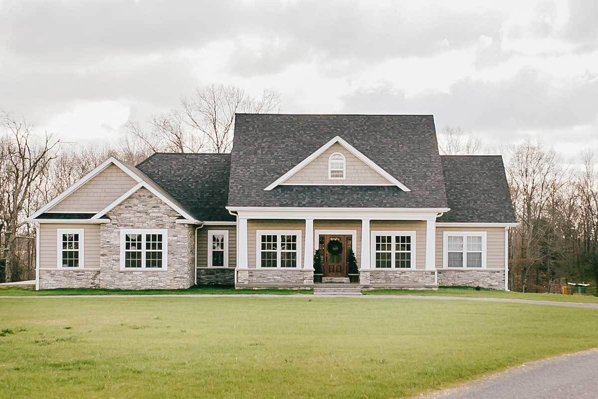 Photo of Plan 77617FB: Nicely Proportioned Traditional House Plan