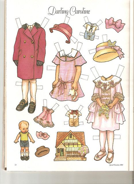 Sew Beautiful paper doll Caroline 2 by Lagniappe*Too, via Flickr