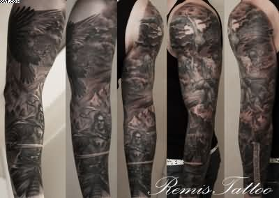 Warrior Tattoos Designs And Ideas Page 126 Sleeve Tattoos Black Sleeve Tattoo Full Sleeve Tattoos