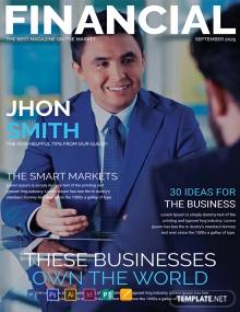 Free Financial Magazine Cover Page Financial Magazine Magazine