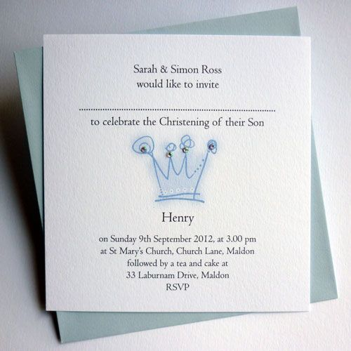 Crown prince christening invitations val carr christening crown prince christening invitations val carr christening invitations personalised stationery and gifts stopboris Choice Image
