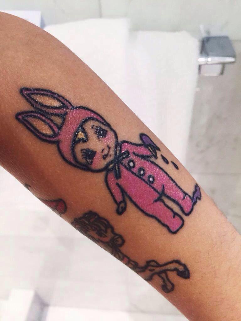 Melanie Martinez Tattoo Kewpie Tattoo Think Tattoo Tattoos