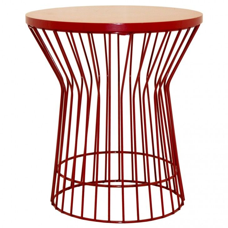 Red wire side table wire center fundi wire side table bedside table future casa ideas rh pinterest ch metal wire table yellow greentooth Choice Image