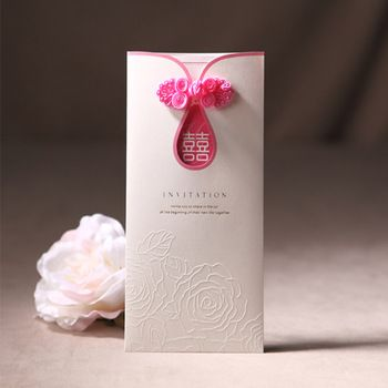 High Quality Chinese Style Qipao Wedding Invitation Card Cw2050