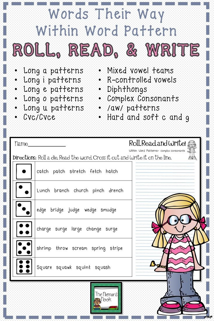 Great For Word Work Centers And Extra Practice Word Work Word Patterns Words