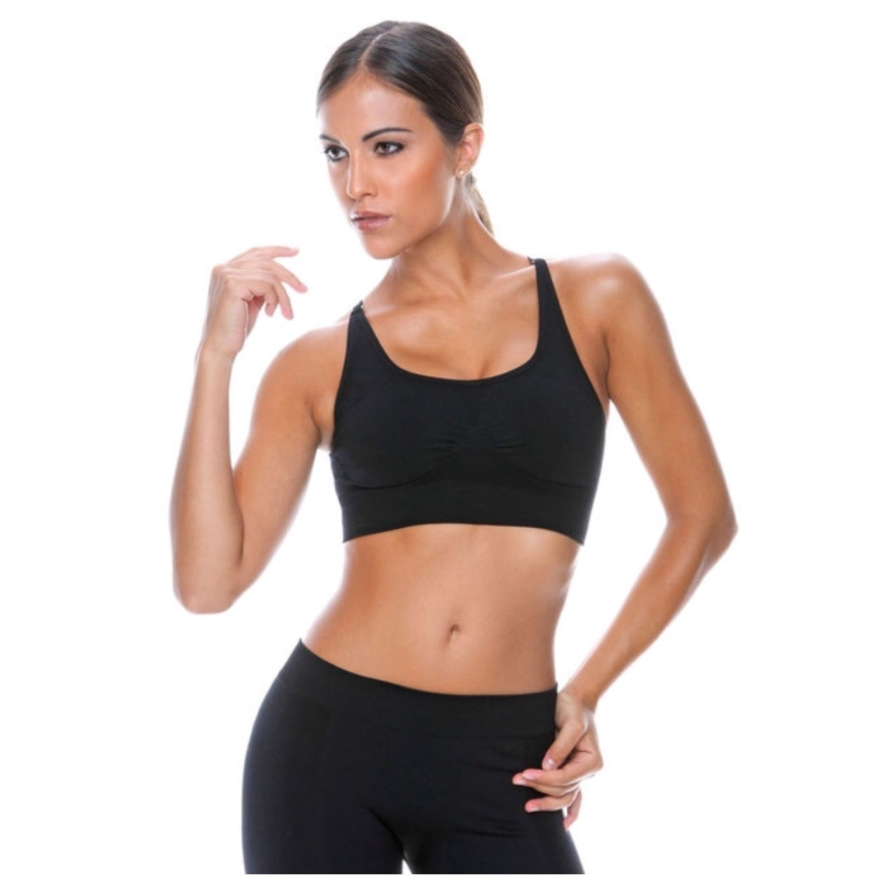 Best 11 Wireless black ControlBody sports bra, made from specially designed high-tech fabric to provide support & shape.