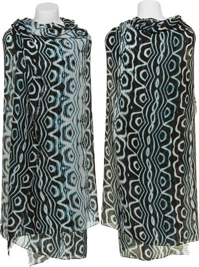STEVE MADDEN Tribal Turquoise Printed Scarf