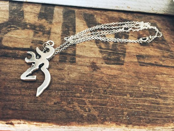 Large Browning Symbol Buckmark Necklace On 28 By Adelynelaines