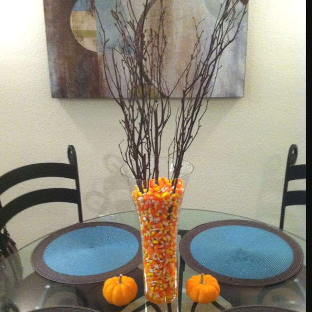 Our Dining Room Table Centerpiece For Fall Fall Pinterest