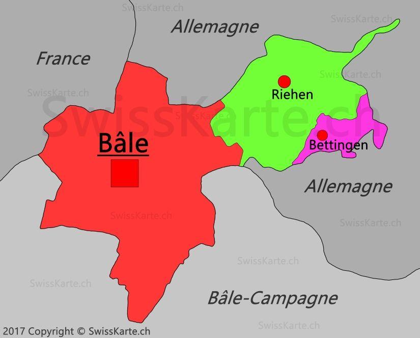 Carte Du Canton De Bale Ville Carte Suisse Allemagne