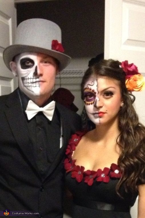 day of the dead makeup couple - photo #23