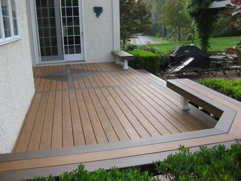 Decks without railing designs best deck railing systems for Garden decking banister