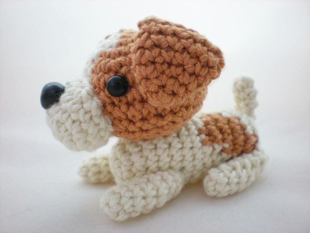 Amigurumi Chien Jack Russell Terrier Crocheté Jeux Peluches