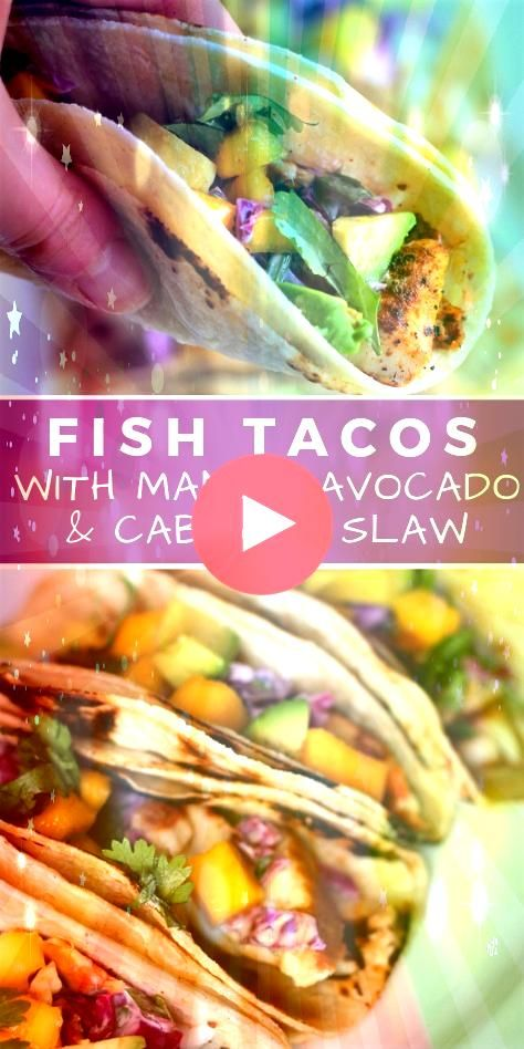 spicy chililime tilapia crunchy sour cream cabbage slaw along with sweet mango and avocado give these fish tacos loads of flavor 177047829087692282The spicy chililime til...