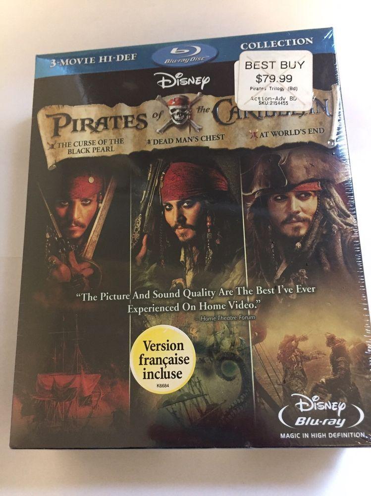 Pirates Of The Caribbean Trilogy Box Set 3 Movies Blu Ray Sealed