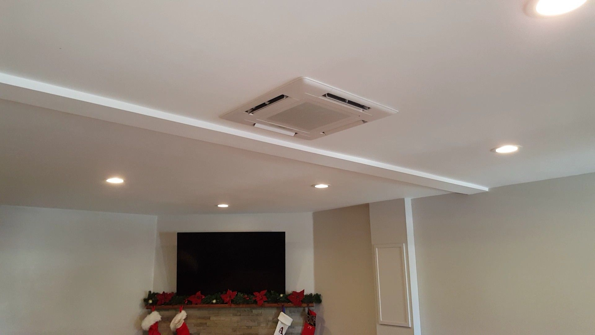 Mitsubishi Sez Recessed Ceiling Cassette Installed By