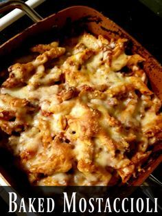 Baked Mostaccioli Recipe Copper Chef Recipes Baked