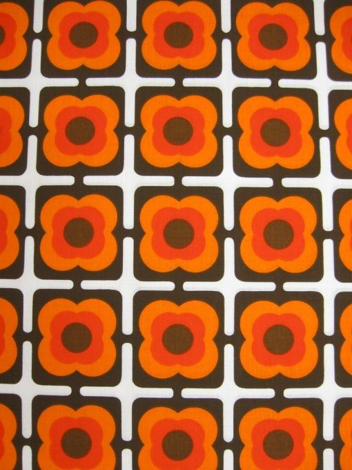 70er baumwollstoff bild 1 lamp shade fabrics - Tapisserie annee 70 ...
