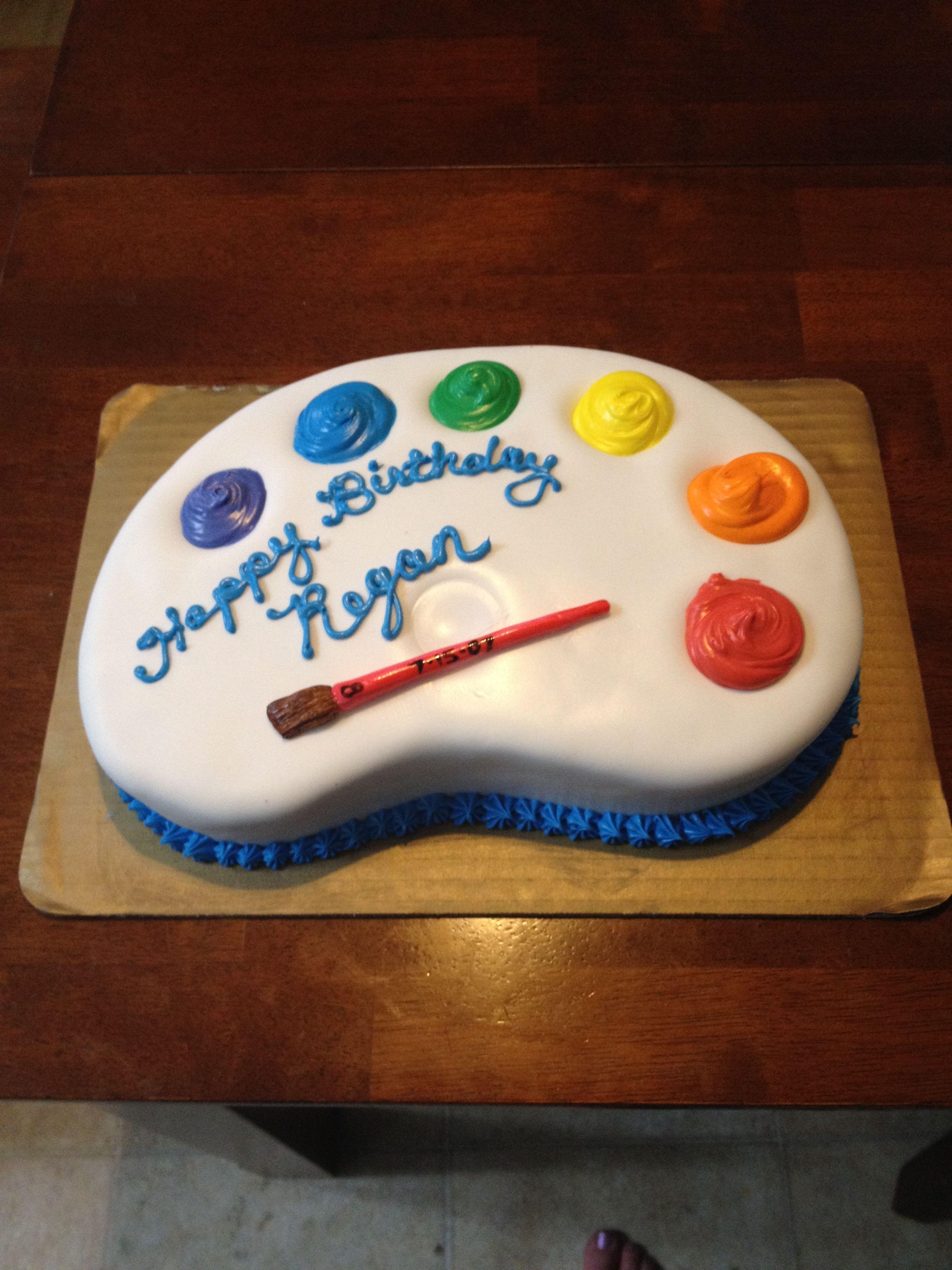 Painters pallet cake by amy masini cake imagination for Cake craft beavercreek ohio